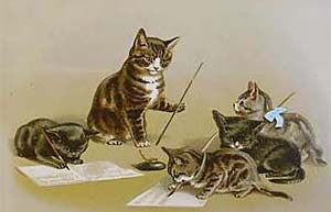 Helena Maguire - Kittens Learning to Write